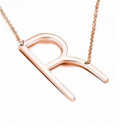 Buchstaben Halskette PersoChain Rosegold
