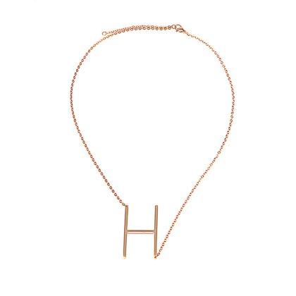 Buchstaben Halskette PersoChain H