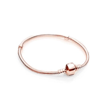 Charms Beads Armband Rosegold Basic  18cm