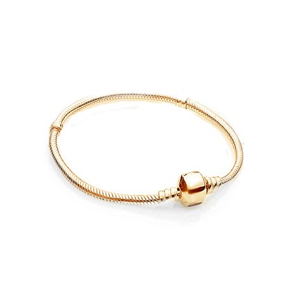 Charms Beads Armband Gold Basic  20cm