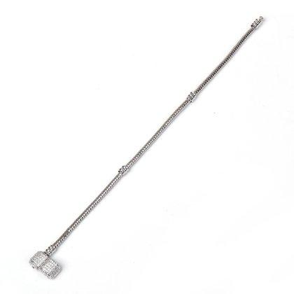 Charms Beads Armband Zirkonia Silber 19cm