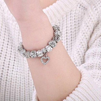Charms Beads Charm Anhänger Perlen für Armband Kette Starter Angebot,Edelstahl Zirkonia Silber karma beads,Pandora style kompatibel