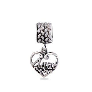 "Charms Beads Charm Anh""nger Perlen fr Armband Kette Starter Angebot,Edelstahl Zirkonia Silber karma-beads , Pandora style kompatibel"
