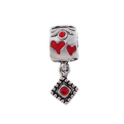 "Beads Charm Anh""nger Perlen fr Armband Kette Starter Angebot,Edelstahl Zirkonia Silber karma-beads , Pandora style kompatibel 925"