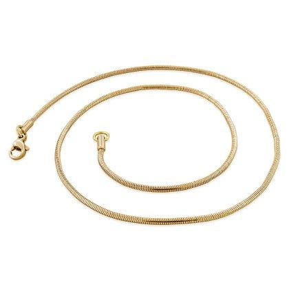 Basis Kette Schlange Edelstahl Halskette Rosegold 1.5mm 45cm