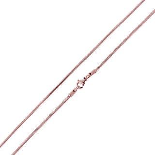 Basis Kette Schlange Edelstahl Halskette Rosegold 1.5mm 55cm