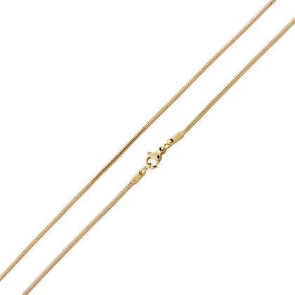 Basis Kette Schlange Edelstahl Halskette Gold 1.5mm 55cm