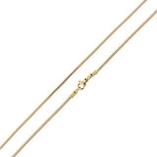 Basis Kette Schlange Edelstahl Halskette Gold 1.5mm 70cm