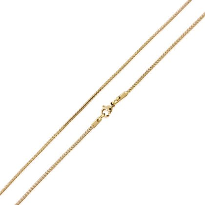 Basis Kette Schlange Edelstahl Halskette Gold 2.5mm 70cm