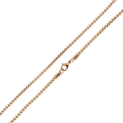 Basis Kette TF Edelstahl Halskette Gold 1.5mm 55cm