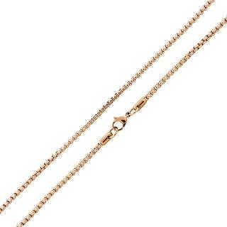 Basis Kette TF Edelstahl Halskette Gold 1.5mm 90cm
