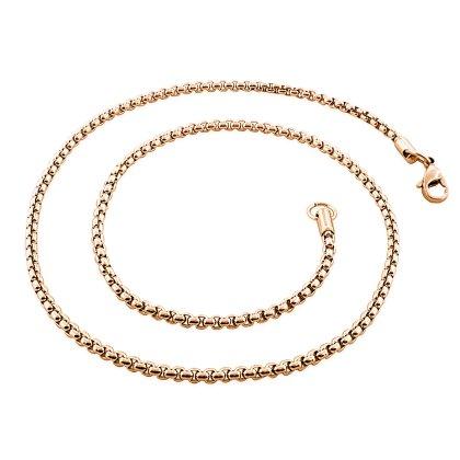 Basis Kette TF Edelstahl Halskette Gold 2.5mm 90cm