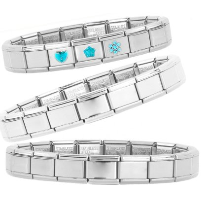 Italy Italian charm Link Glieder Basis Armband Gl?nzend (A1)