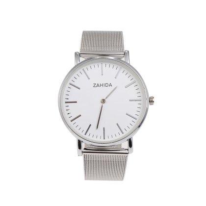LUXERY Damen Uhr, Silber Edelstahl Schmuck Charms Mesh Frauen Individuelle Anhänger Zirkonia Schiebe-perlen Slider