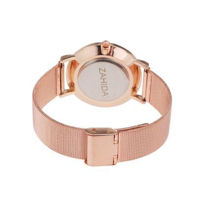 LUXERY Damen Uhr, Rosegold Edelstahl Schmuck Charms Mesh Frauen Individuelle Anhänger Zirkonia Schiebe-perlen Slider