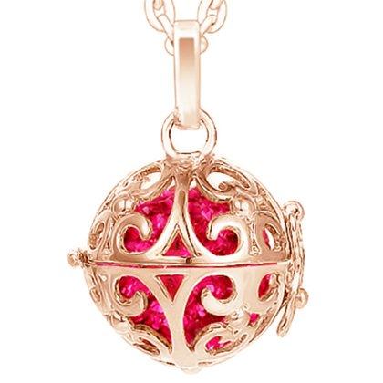 Damen 3 Engelskugel Engel-kette-rufer Klangkugel Ø 14 mm in Schmuckbeutel zur Farbauswahl für Halskette Ornament Anhänger  Schwarz