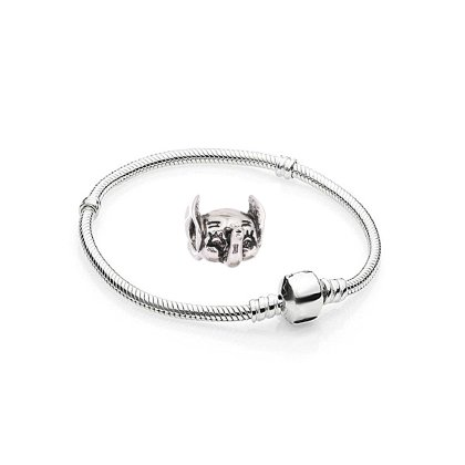 Charms Elefant Silber Farbe - 1 Armband und 1 Anhänger...