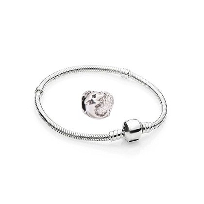 Charms Delfine Silber Farbe - 1 Armband und 1...