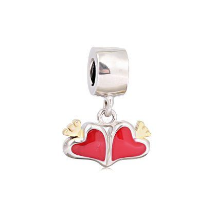 Charm Herz Pandora Armband kompatibel Kette Silber Charms...