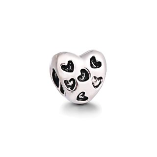 Herz Beads armband Edelstahl Perle bettel Charms Bead Silber Original Strass Pandora style kompatibel Herz